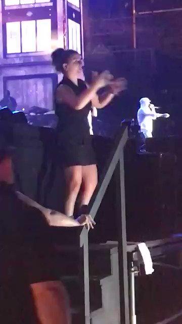 Sign language interpreter at Eminem's concert