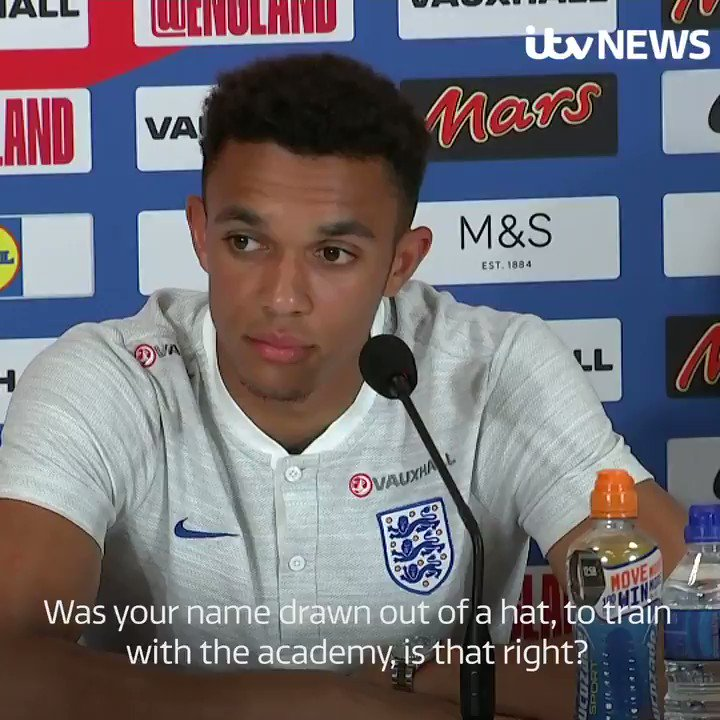 My lucky break came when I was six The youngest member of #Englands #WorldCup squad, Trent Alexander-Arnold, has revealed the moment he was spotted by scouts as a youngster.