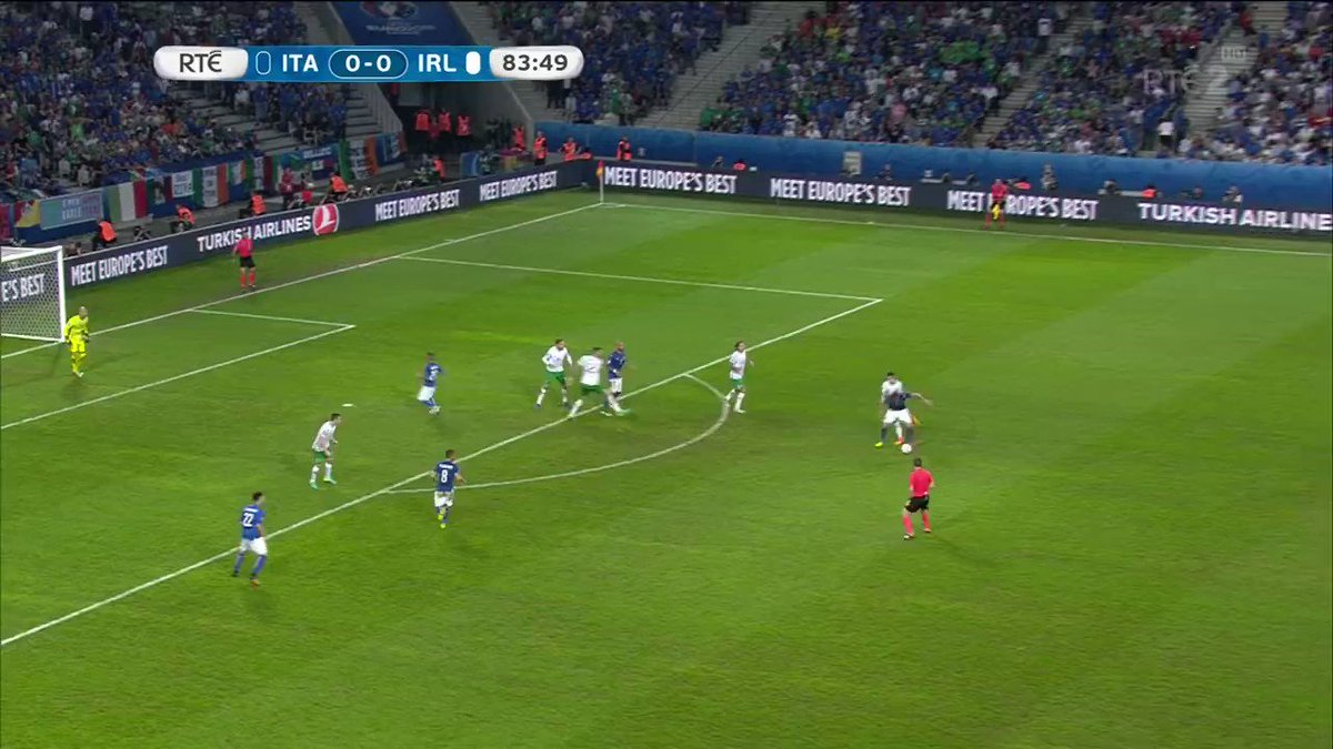 Well is that it, have we seen the moment pass when it might have happened, lets hope not...Hoolahan, inviting.. ITS THERE!!. Two years on from that famous night in Lille! #COYBIG
