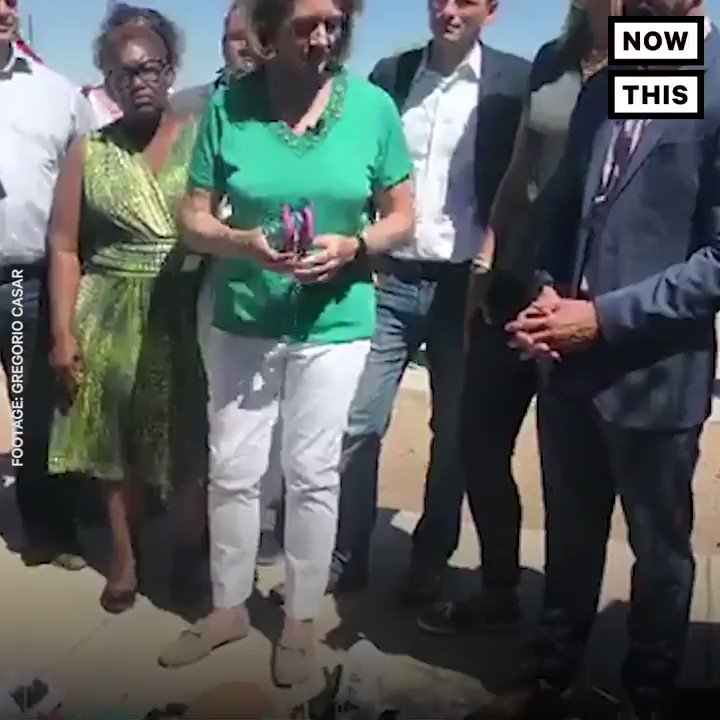 Mayors and lawmakers left shoes for children at a detention camp in solidarity