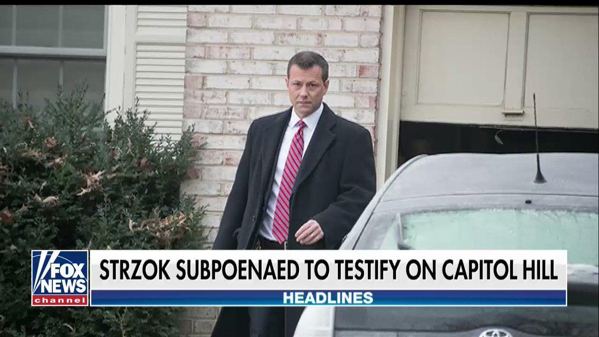 FBI agent Peter Strzok subpoenaed to testify by House Judiciary Committee fxn.ws/2tkVi5u