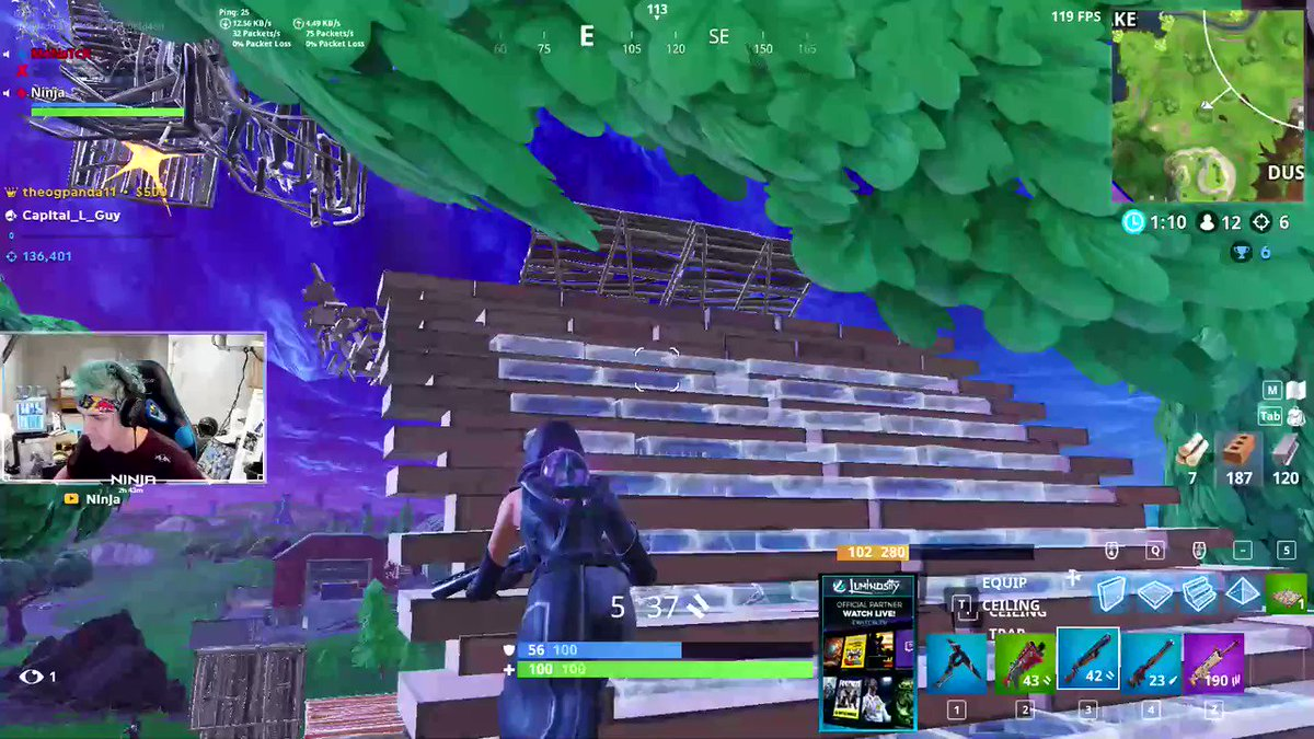 Replying to @Ninja: 1  Hp and a dream