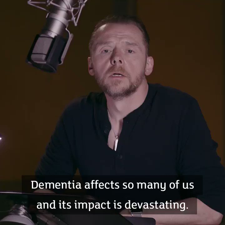 """""""Dementia affects so many of us and its impact is devastating. But public understanding of dementia is low."""" - @SimonPegg"""