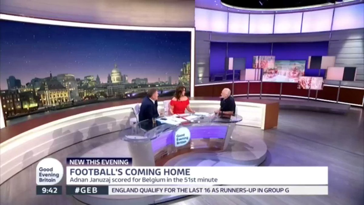 Great to be on #GoodEveningBritain, the special edition of @GMB, to discuss #ENGBEL and grassroots football. https://t.co/WV4OjE7wh4