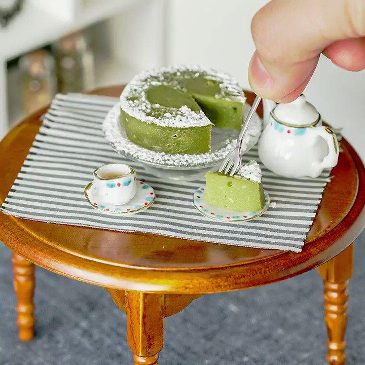 【アレンジ和スイーツ🍴】抹茶豆腐のちびガトーショコラ🌿 レシピはこちら:  スマホアプリもダウンロードしてね👇