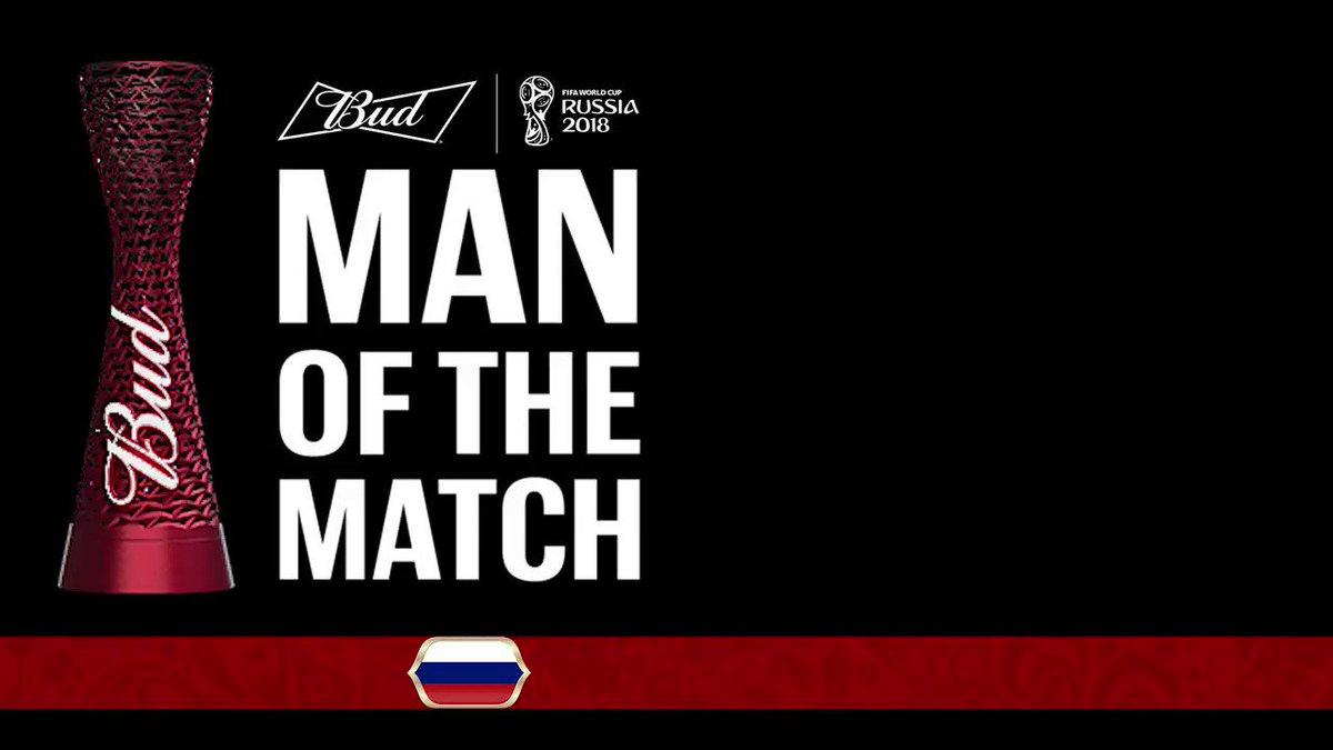 ¡Arquero, arquero!  Igor Akinfeev es el ganador del @Budweiser #ManoftheMatch del #ESPRUS.  #ESPRUS #Rusia2018