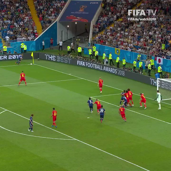 Beautiful goal to break #JPN hearts... Lukaku and Chadli immense gut-running and creation of space ⚽️???????? https://t.co/u4aTt0NNXH