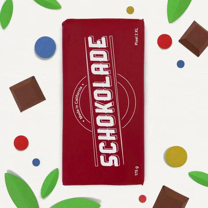 """Heute ist """"Tag der Schokolade"""": Versüß jemandem den Tag mit einem unwiderstehlichen Selfie! Probiers aus! #teampixel"""