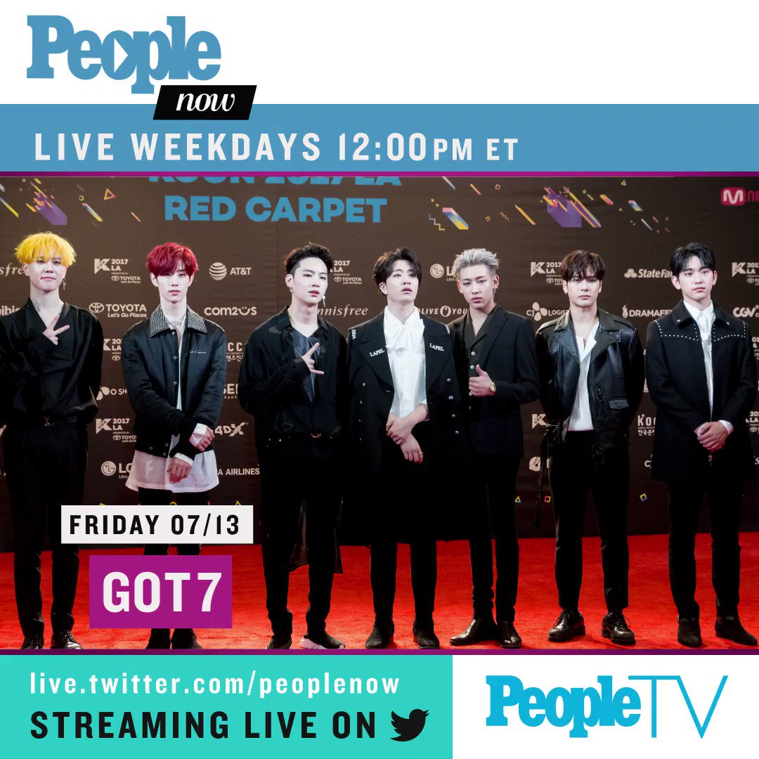 Tomorrow on #PeopleNow: @GOT7Official! Watch — Weekdays 12PM ET/9AM PT: https://t.co/82Fsugg2fo #GOT7 https://t.co/RUX0lt4Yu7
