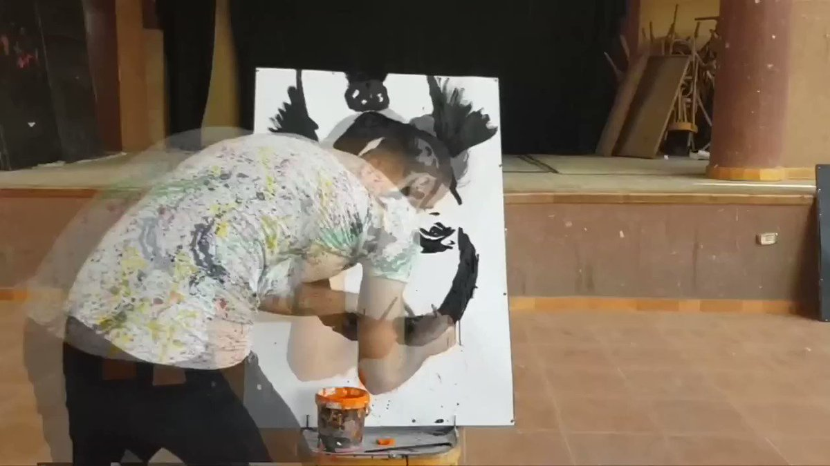 Egyptian speed painter amazes audiences with upside down portraits https://t.co/13ALi32AXv