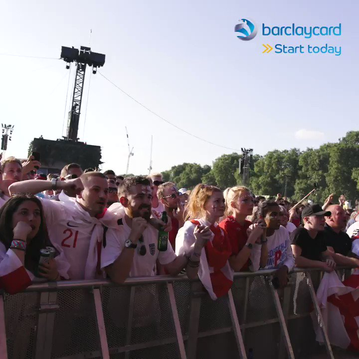 The atmosphere is 🔥🔥🔥 here at Barclaycard presents @BSTHydePark #ENGCRO #BarclaycardBST ⚽