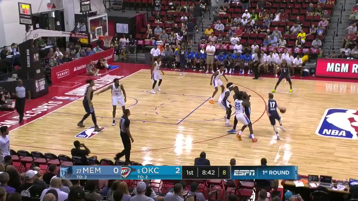 Jaren Jackson Jr. gets the AND-1 to start the action for the @memgrizz!  #NBASummer on @NBATV https://t.co/or3FBDRK3o