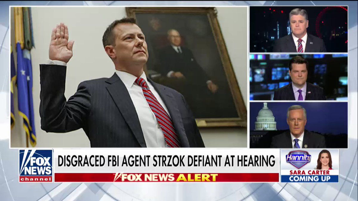.@RepMarkMeadows: 'Today Peter Strzok's luck ran out.' #Hannity https://t.co/n9rtHEvNOP https://t.co/NcKlU6TGce