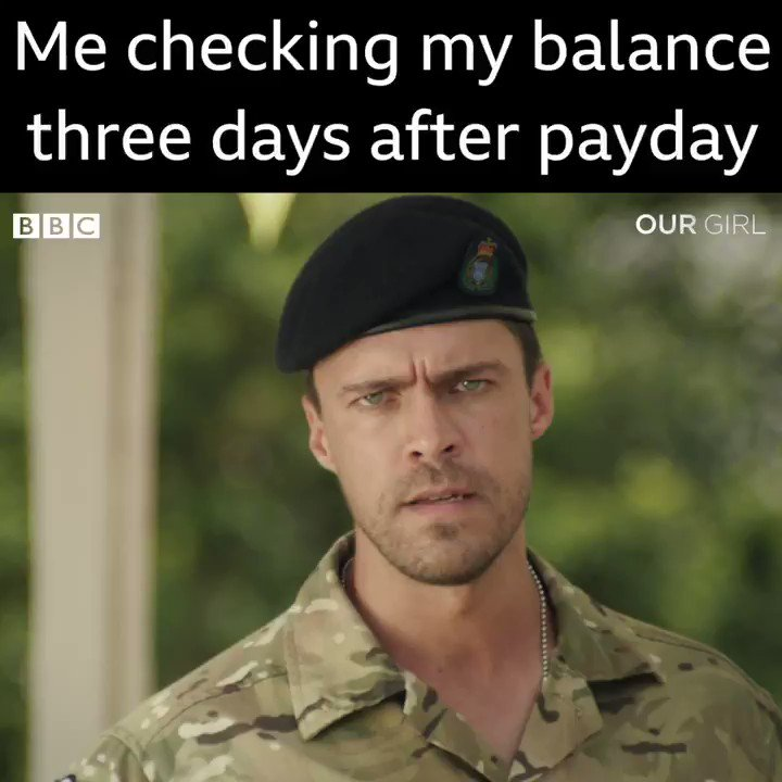 The struggle is real. #OurGirl https://t.co/pKRyMIevQK