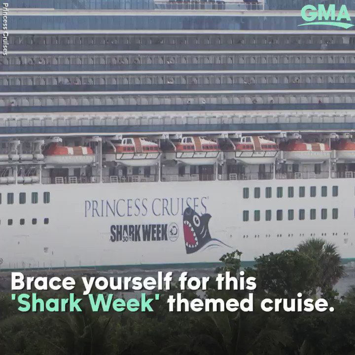 .@PrincessCruises is offering @SharkWeek-themed cruises and we are HERE for it! https://t.co/vOJxRo5yJ8 https://t.co/y8YX5pjUkt