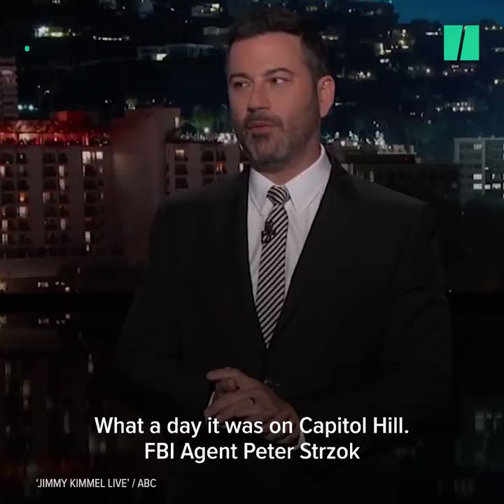 The Peter Strzok testimony went off the rails, but it gave Stephen Colbert and Jimmy Kimmel a good laugh. https://t.co/AfEvmkdsQu