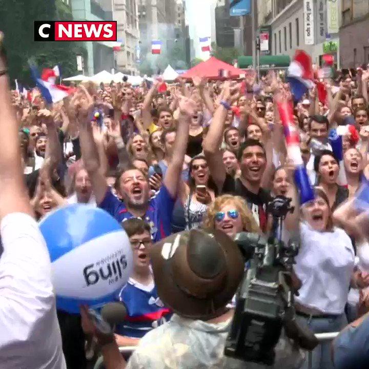 Les Français de New York fêtent la victoire des Bleus eux aussi ⚽