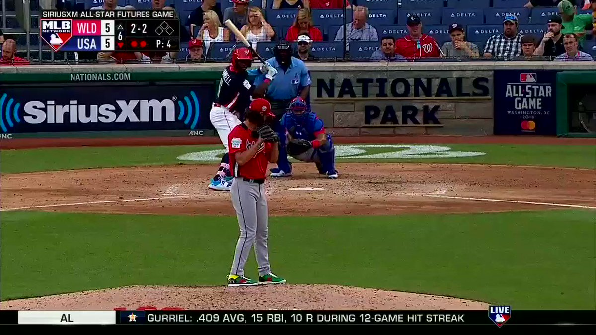 Team USA takes a 6-5 lead after a solo shot from @Taytram24! @Reds #FuturesGame https://t.co/QGoXNGjUSx