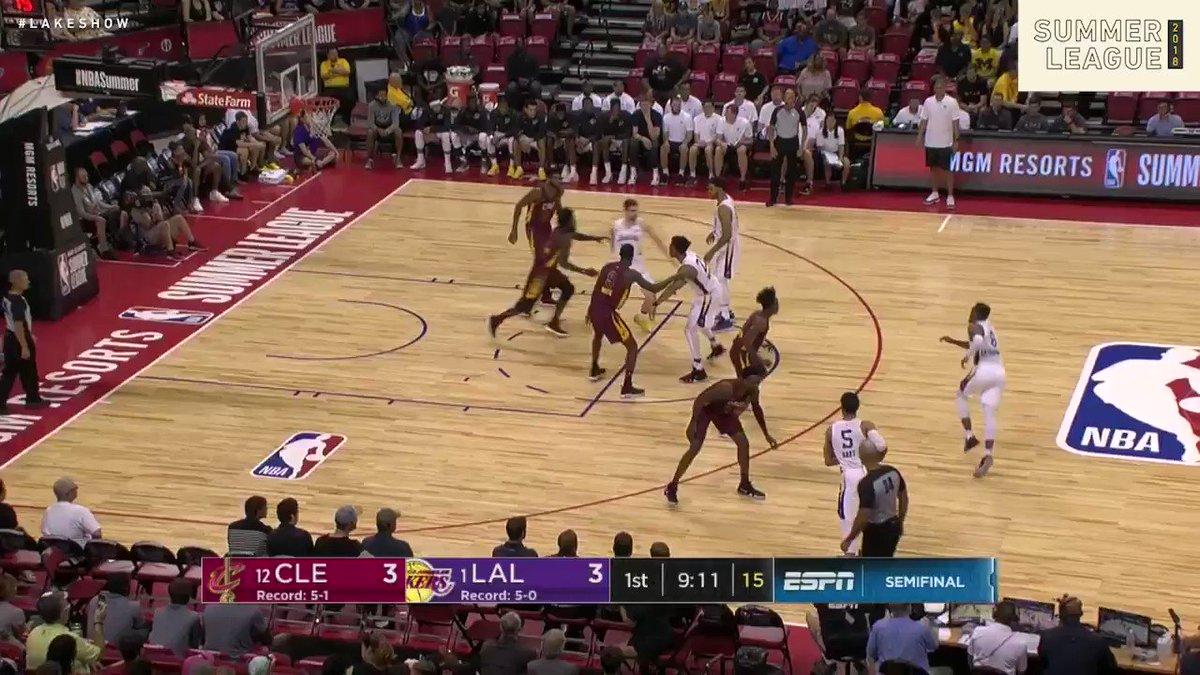Josh Hart rompe el récord de anotación de los Lakers en Summer League anotando 37 puntos. LA a semis.