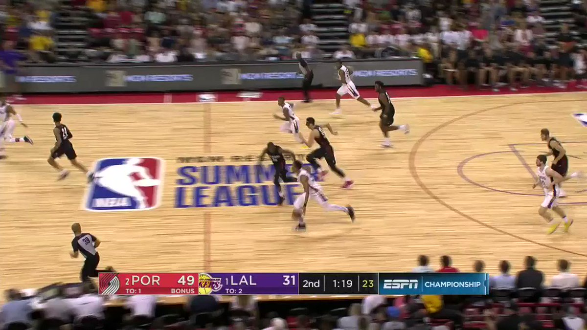 Johnathan Williams threw one DOWN for the @Lakers in the 1st half!  @NBASummerLeague ➡️ ESPN https://t.co/Bm4ichdzTm