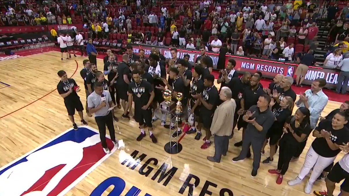The 2018 @NBASummerLeague Championship Game MVP... KJ McDaniels of the @trailblazers! �� https://t.co/bad5StjxWJ