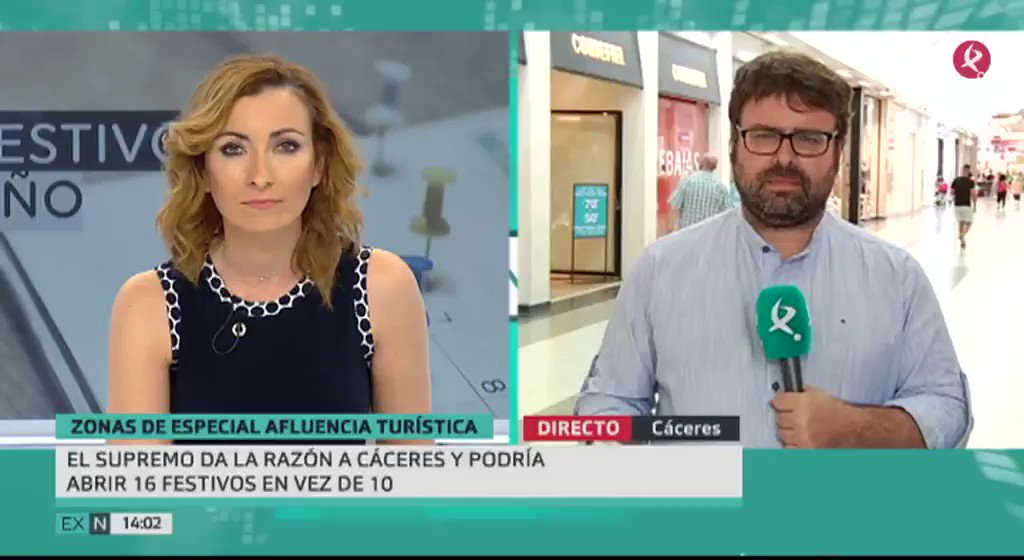 Según el Tribunal Supremo #Cáceres, al ser Patrimonio de la Humanidad y zona de especial afluencia artística, puede abrir 16 festivos y no 10 como estableció la Junta  #EXN https://t.co/T33xWh8VDZ