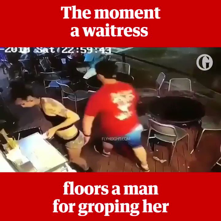 The moment Emelia Holden floored a man for groping her https://t.co/KHci1WkMr9