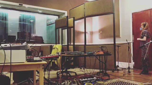 Recording percussion  repost @emilehaynie https://t.co/SZ44ce2Ev3