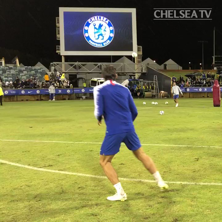 Four strikes of the highest standard...  Take a bow, @MarcosAlonso03! �� #CFCinPerth https://t.co/t1eGkxg4pb