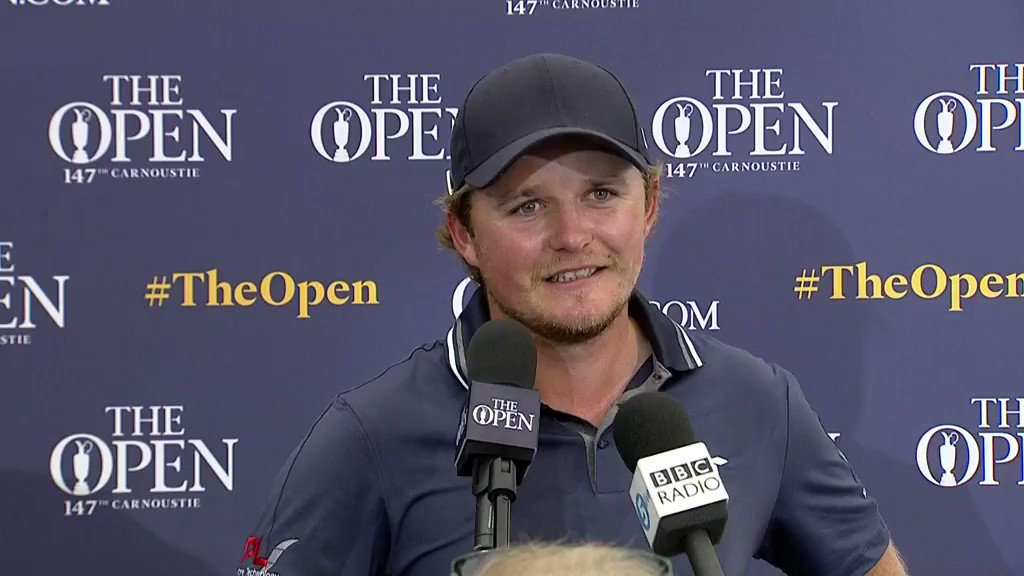 A hungover Eddie Pepperell is hanging around near the top of #TheOpen leaderboard after 67: watchgolf.ch/GiEzwh