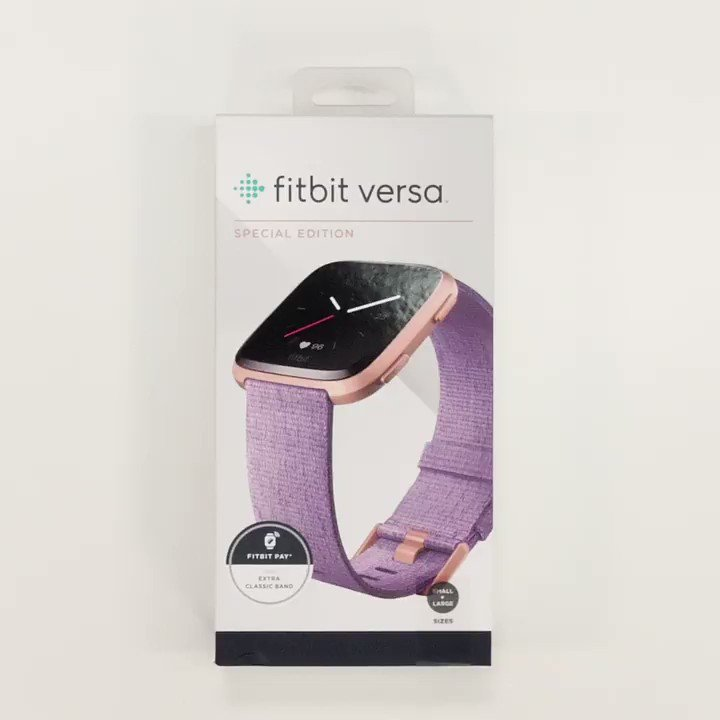 Fitbit versa special edition lavender woven/rose gold aluminum | Buy