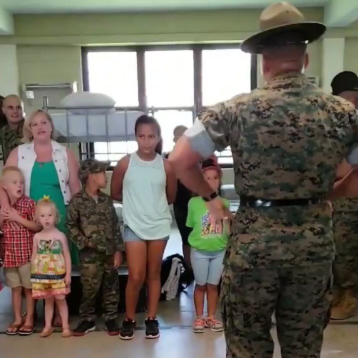 Devil Dog Daycare Children of drill instructors get a chance to experience what it's like to be a recruit.