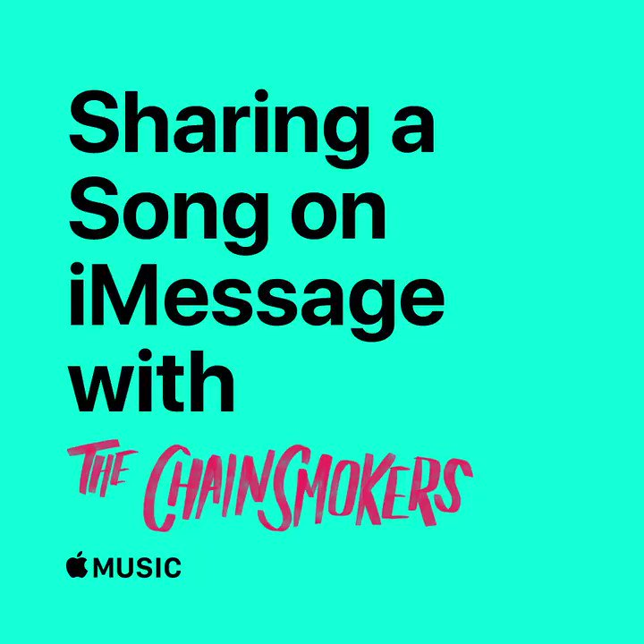 """Get it? It's a song joke."" �� @TheChainsmokers @ a friend you're always sending music to. https://t.co/9WvxLdoFyG https://t.co/WP9zcwQ2a4"