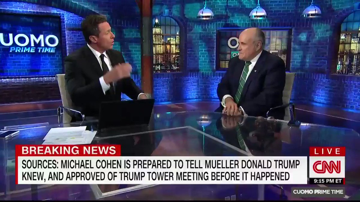 Giuliani called Michael Cohen a 'pathological liar' in a heated CNN interview, and it could create another problem for Trump