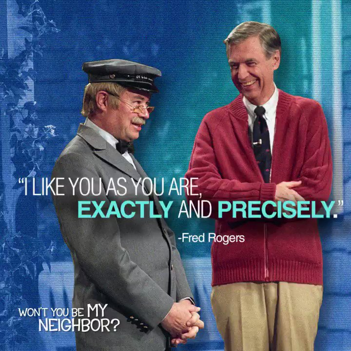 This hero wears a red sweater, not a red cape. #WontYouBeMyNeighbor now playing: bit.ly/mrrogers-tix