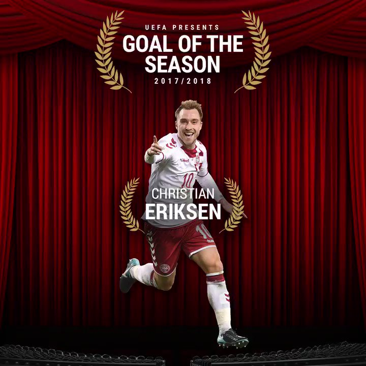 ⚽ @ChrisEriksen8s superb strike for Denmark against the Republic of Ireland has been nominated for @UEFAcom Goal of the Season! 🔥 🗳️ VOTE ▶️ spurs.to/UEFAGOTS #COYS