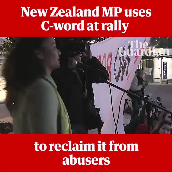 New Zealand MP Marama Davidson uses C-word at rally to reclaim it from abusers https://t.co/Pu5E8DTlrS