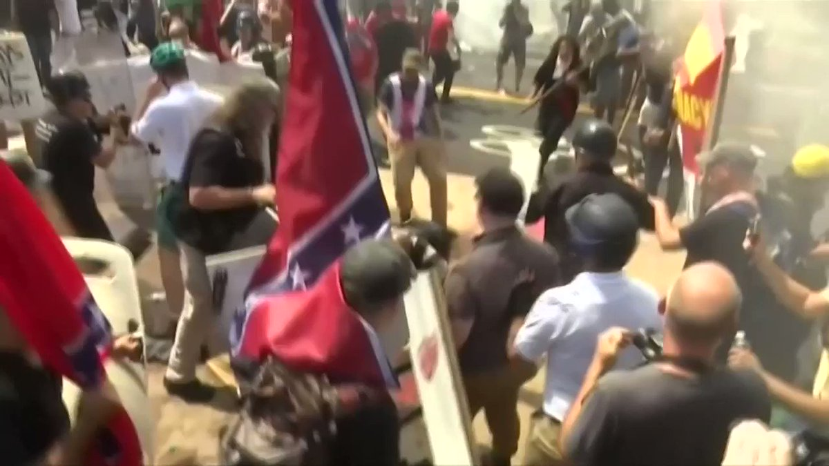 WATCH: Tensions high ahead of 'Unite the Right 2'. Read more: https://t.co/nTJ8dztLGB https://t.co/pQ9LrJYF86