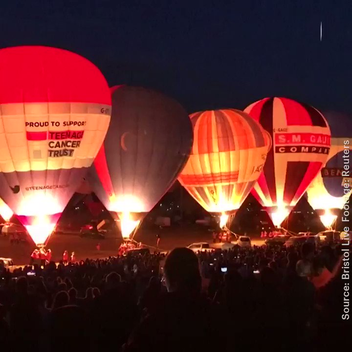 These hot air balloons look just as amazing on the ground as they do in the air (via @Thrillist)