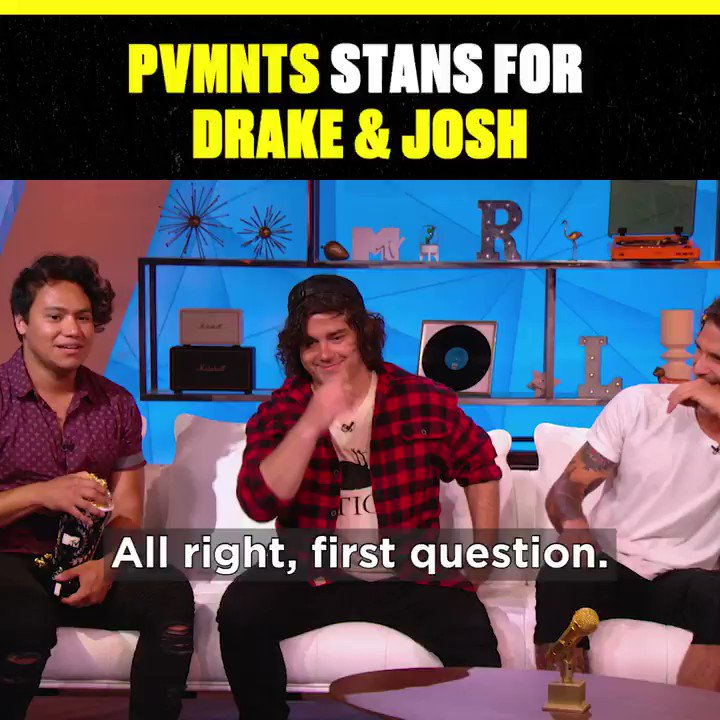 .@pvmntsband singing the drake & josh theme song is my new favorite bop thank you @iamnicklovin @tylergposey and @thefredster__ #TRL
