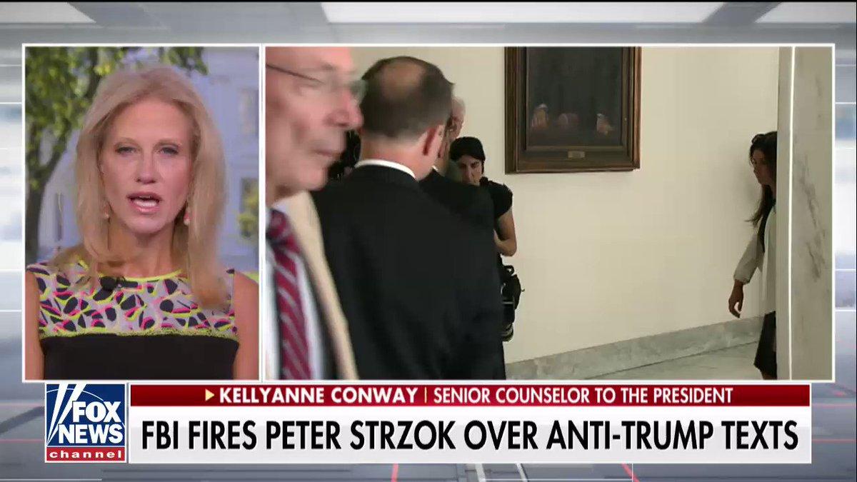 .@KellyannePolls reacts to FBI firing Peter Strzok https://t.co/JXUeNWcQDY @AmericaNewsroom https://t.co/j0qdm0KO91