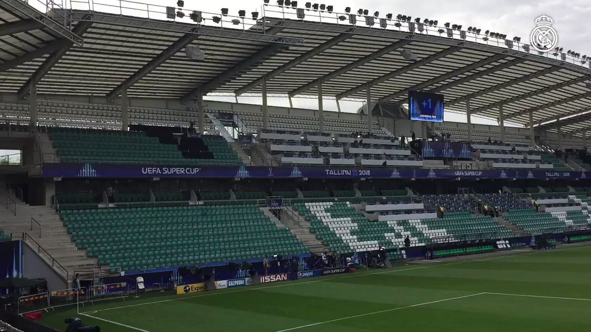 """""""@realmadriden: 🏟🏆 The stage for tonight's UEFA Super Cup! Three hours until kick-off! #RMSuperCup """""""