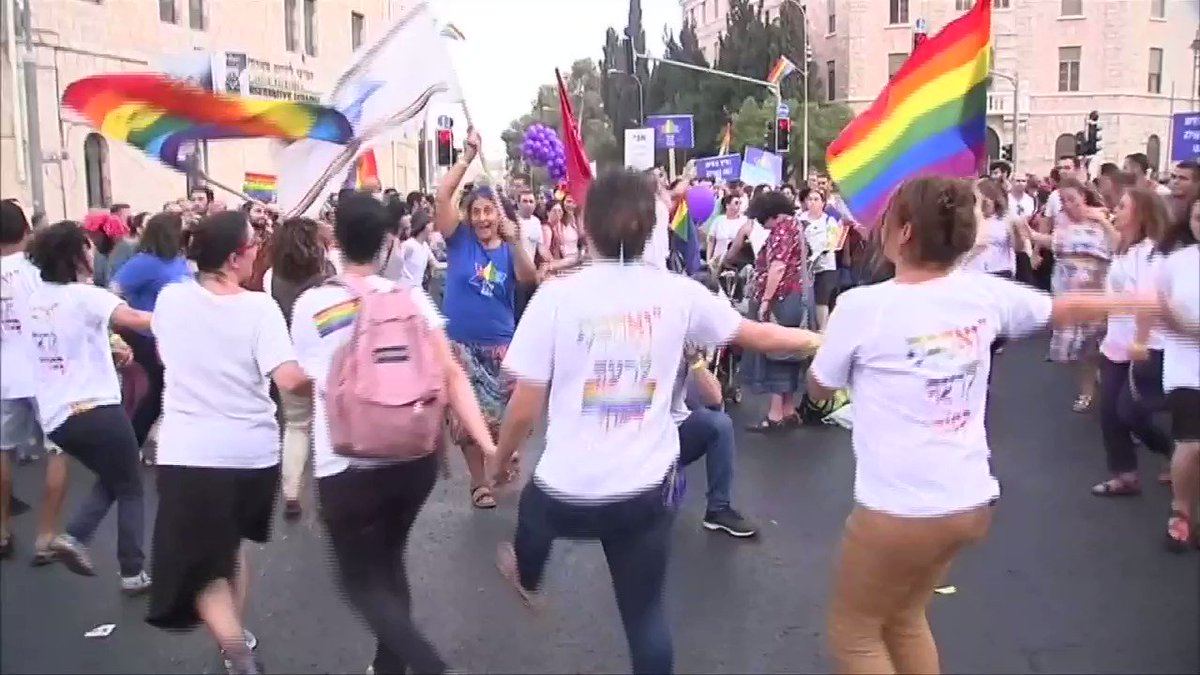 ICYMI: Thousands participate in Jerusalem's annual Pride parade https://t.co/twjEqIOvaG