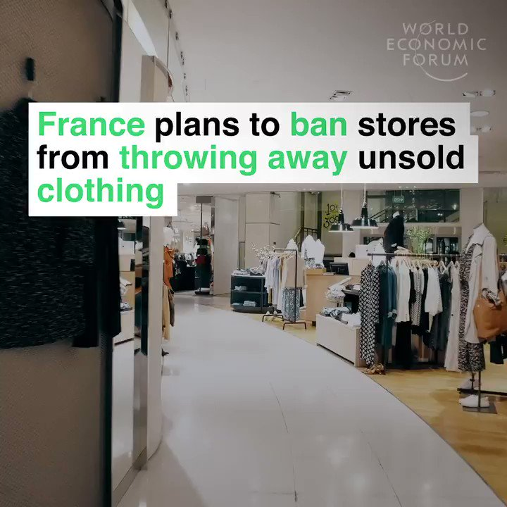 France 🇫🇷 are banning shops from throwing away unsold food and clothes and instead they have to donate the unsold products to charities and people who need it most. Great initiative. Please retweet if you think that your country should do the same.