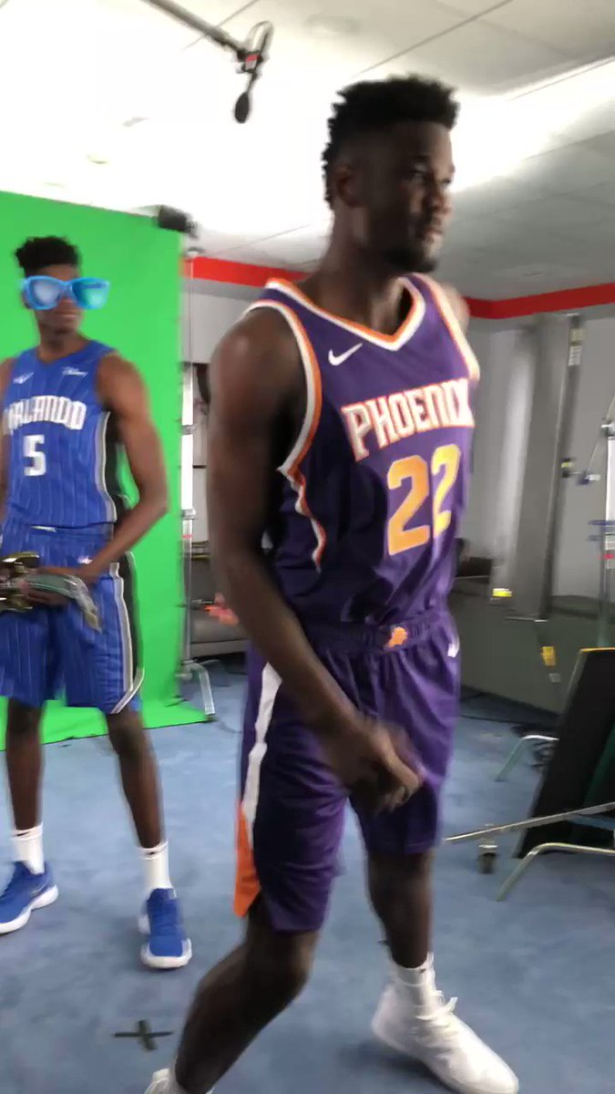 ���� a lil Friday Flashback to the #NBARooks Photo Shoot where Deandre Ayton & Mo Bamba stole the show, maybe! https://t.co/AYp00AWU0k