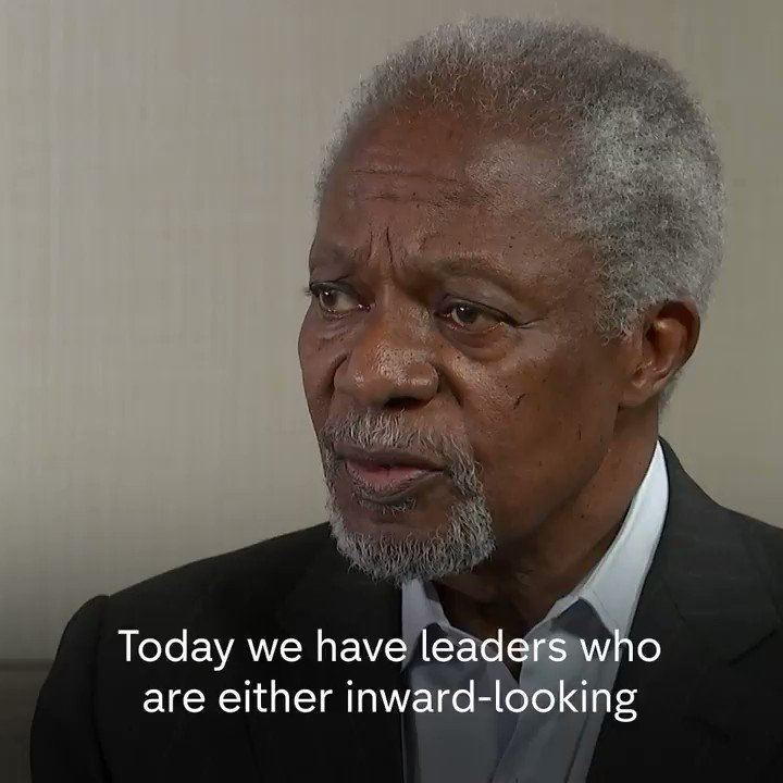 Image for the Tweet beginning: Kofi Annan, former Secretary-General of