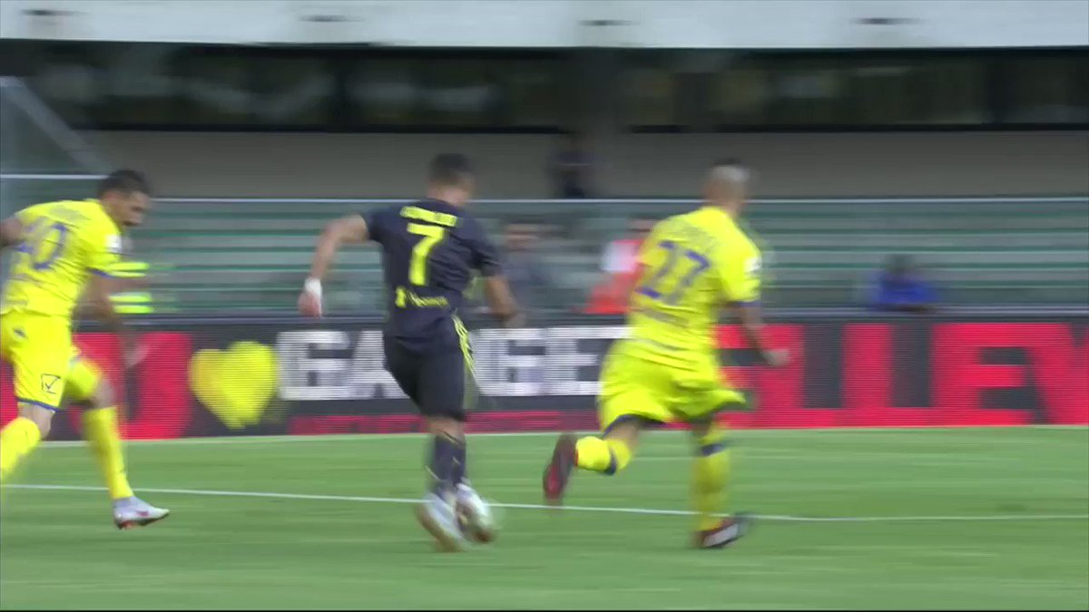 CR7 is showing signs of frustration in his Juventus debut.  Catch the game on ESPN+. https://t.co/7uZrudkEYd
