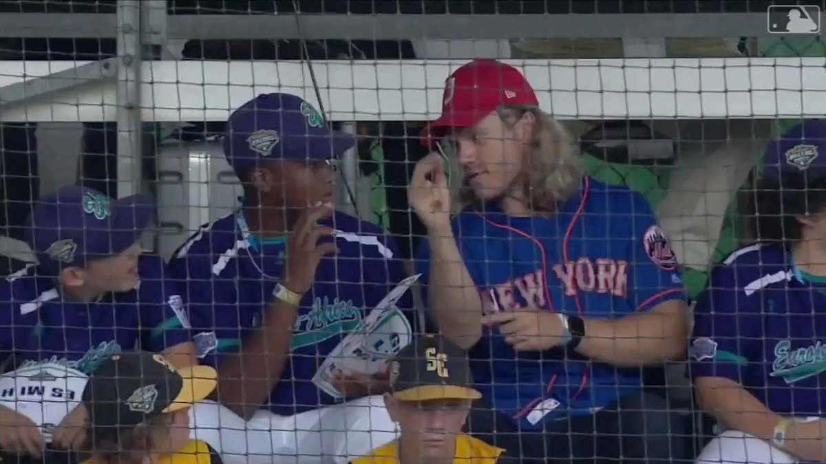 Talking shop with Thor. So. Awesome. #LittleLeagueClassic