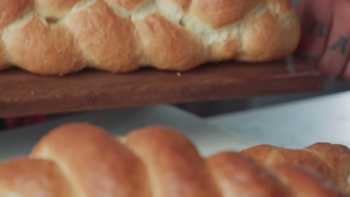 Image for the Tweet beginning: This braided bread loaf from