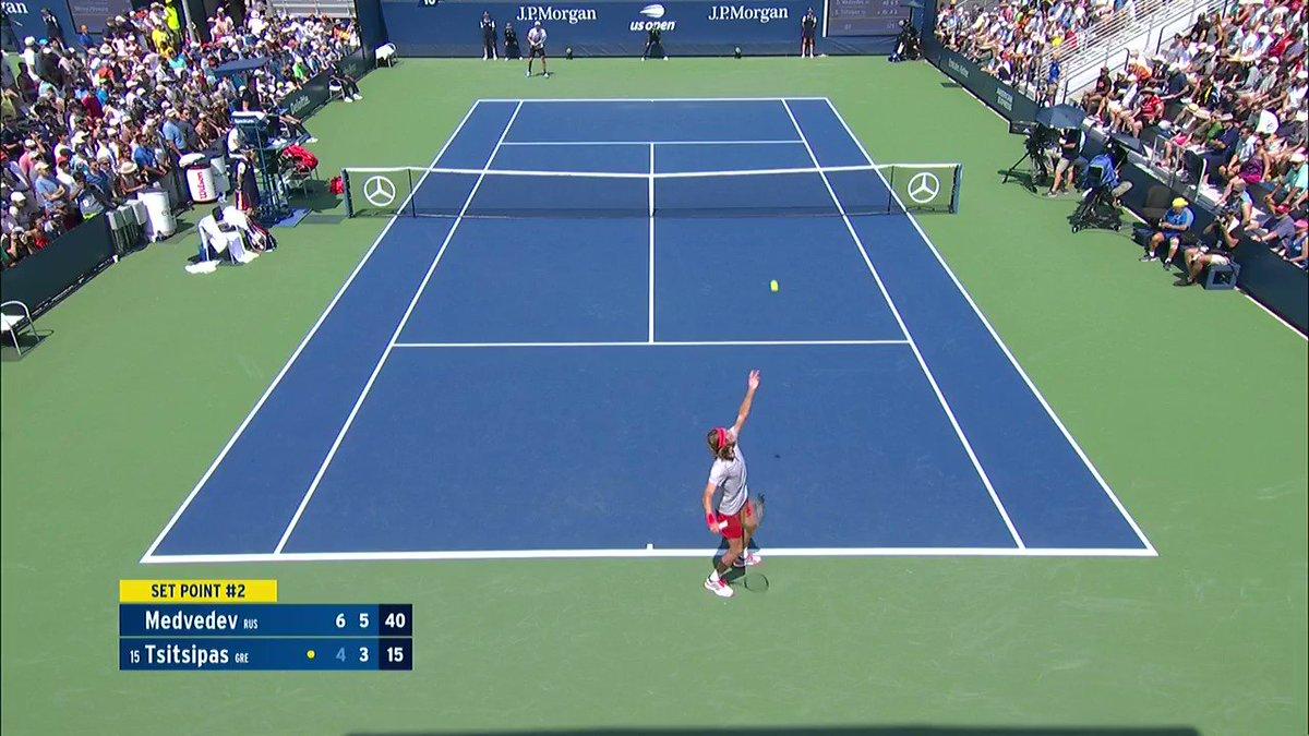 Us Open Tennis On Twitter Upset Alert On Court 10 Daniil Medvedev Takes A 2 Set Lead Over Tsitsipas Usopen
